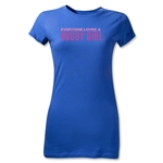 Everyone Loves a Rugby Girl Junior Women's T-Shirt (Royal)