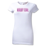 Everyone Loves a Rugby Girl Junior Women's T-Shirt (White)