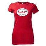 My Daughter Plays Junior Women's T-Shirt (Red)