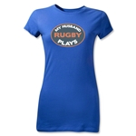 My Husband Plays Junior Women's T-Shirt (Royal)