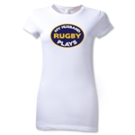 My Husband Plays Junior Women's T-Shirt (White)