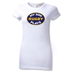 My Son Plays Junior Women's T-Shirt (White)