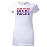 Real Women Drive Rucks Junior Women't T-Shirt (White)