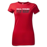 Real Women Play Rugby Junior Women's T-Shirt (Red)