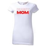 Rugby Mom 2 Junior Women's T-Shirt (White)