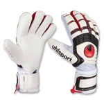 uhlsport Cerberus Supersoft Bionik Goalkeeper Gloves (White/Red)