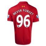Liverpool 12/13 NEVER FORGET Home Soccer Jersey