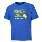Gabon Soccer Youth T-Shirt (Royal)