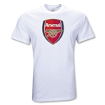 Arsenal Youth Big Crest T-Shirt (White)
