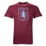Aston Villa Large Crest Youth T-Shirt (Maroon)