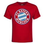 Bayern Munich Logo Youth T-Shirt (Red)