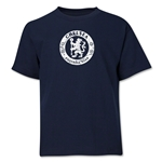 Chelsea Distressed Emblem Youth T-Shirt (Navy)