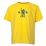 Chelsea Retro Lion Youth T-Shirt (Yellow)