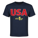 CONCACAF Gold Cup 2015 USA Youth Big Logo T-Shirt (Navy)