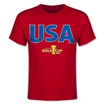 CONCACAF Gold Cup 2015 USA Youth Big Logo T-Shirt (Red)