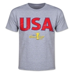 CONCACAF Gold Cup 2015 USA Youth Big Logo T-Shirt (Grey)