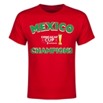 Mexico CONCACAF 2015 Cup Champions Youth T-Shirt (Red)