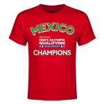 Mexico CONCACAF Men's Olympic Qualifying Champions Youth T-Shirt (Red)