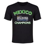 Mexico CONCACAF Men's Olympic Qualifying Champions Youth T-Shirt (Black)