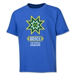 Brazil Copa America 2015 Banderas Youth T-Shirt (Royal)