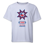 Chile Copa America 2015 Banderas Youth T-Shirt (White)