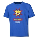 Colombia Copa America 2015 Banderas Youth T-Shirt (Royal)