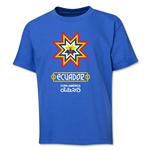 Ecuador Copa America 2015 Banderas Youth T-Shirt (Royal)