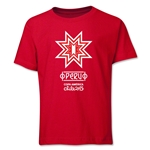 Peru Copa America 2015 Banderas Youth T-Shirt (Red)
