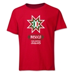 Mexico Copa America 2015 Banderas Youth T-Shirt (Red)