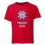 Paraguay Copa America 2015 Banderas Youth T-Shirt (Red)