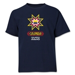 Colombia Copa America 2015 Banderas Youth T-Shirt (Navy)