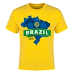 Brazil Copa America 2015 Youth T-Shirt (Yellow)