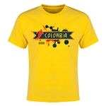 Colombia Copa America 2015 Youth T-Shirt (Yellow)