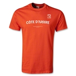 FIFA Beach World Cup 2013 Cote D'Ivoire Youth T-Shirt (Orange)