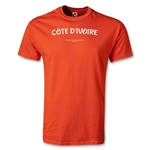 Cote D'Ivoire FIFA Beach World Cup 2013 T-Shirt (Orange)
