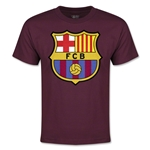 Barcelona Licensed Crest Youth T-shirt (Maroon)