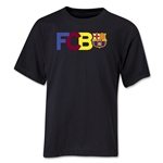 Barcelona Big Letter Youth T-Shirt (Black)