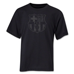Barcelona Distressed Youth T-Shirt (Black)