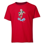1990 FIFA World Cup Ciao Mascot Youth T-Shirt (Red)
