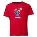 1998 FIFA World Cup Footix Mascot Youth T-Shirt (Red)