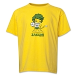 2010 FIFA World Cup Zakumi Mascot Youth T-Shirt (Yellow)