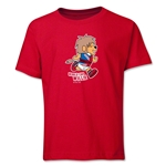 1966 FIFA World Cup Willie Mascot Youth T-Shirt (Red)