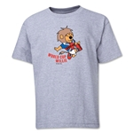 1966 FIFA World Cup Willie Mascot Youth T-Shirt (Grey)