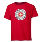 1954 FIFA World Cup Emblem Youth T-Shirt (Red)
