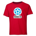 1970 FIFA World Cup Emblem Youth T-Shirt (Red)