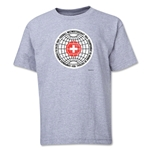 1954 FIFA World Cup Emblem Youth T-Shirt (Grey)
