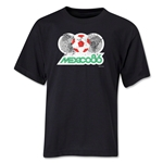 1986 FIFA World Cup Emblem Youth T-Shirt (Black)