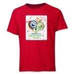 2006 FIFA World Cup Emblem Youth T-Shirt (Red)