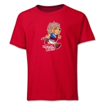 1966 FIFA World Cup Willie Mascot Logo Youth T-Shirt (Red)