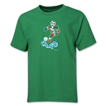 1990 FIFA World Cup Ciao Mascot Logo Youth T-Shirt (Green)